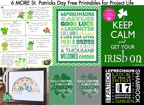 MORE St. Patricks Day Free Printables for Project Life   [ One ...