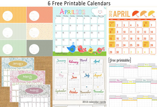 6 Free Printable Monthly Calendar – Free Printable Monthly Calendar
