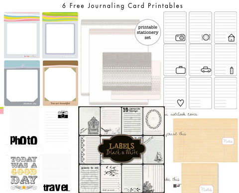 It is an image of Free Printable Journaling Cards regarding scrapbook