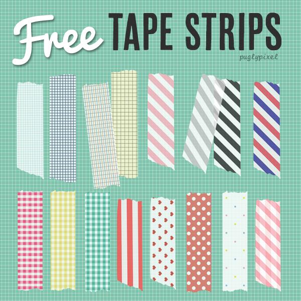 Free Washi Tape Strips