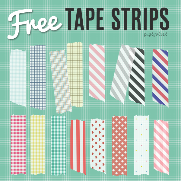 Free Washi Tape Strips