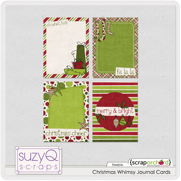 free christmas cheer journaling cards for project life one velvet morning