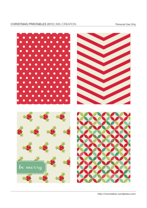 Free Be Merry Journaling Cards for Project Life