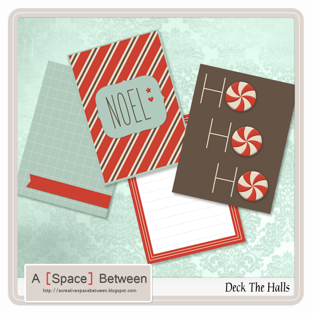 Deck The Halls Journaling Card Freebie