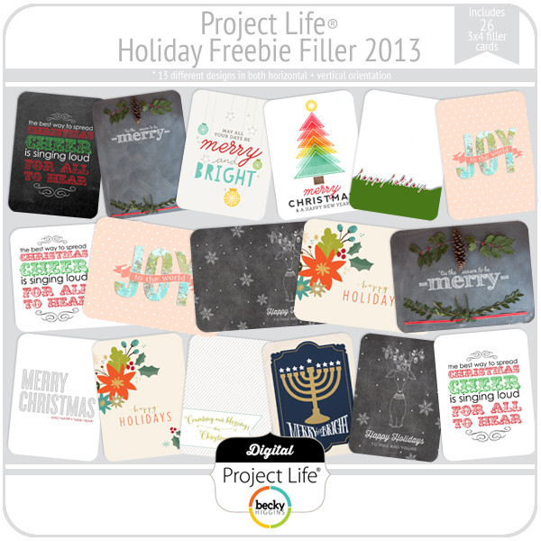 Project Life Holiday Freebie Filler 2013 | digitalprojectlife