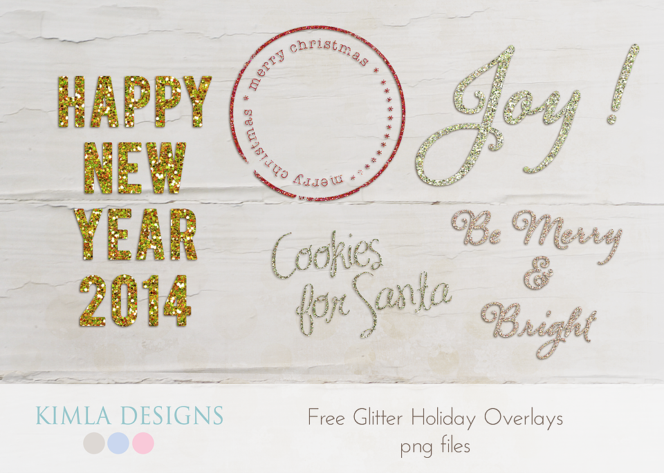 Glitter Holiday Overlays
