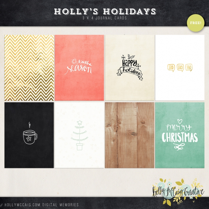Free Project Life Cards for the Holidays