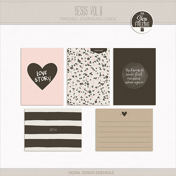 NEW! Besos Vol. II Journaling Cards | Digital Design Essentials