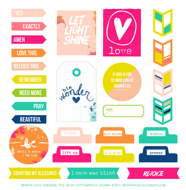 Lovely Colorful Christian Printable Embellishment Freebie | [ One ...