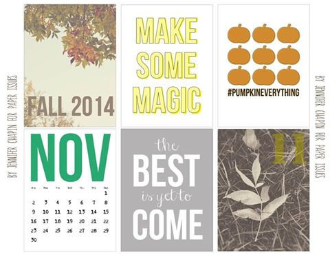 November Magic Free Printable File | Paper Issues