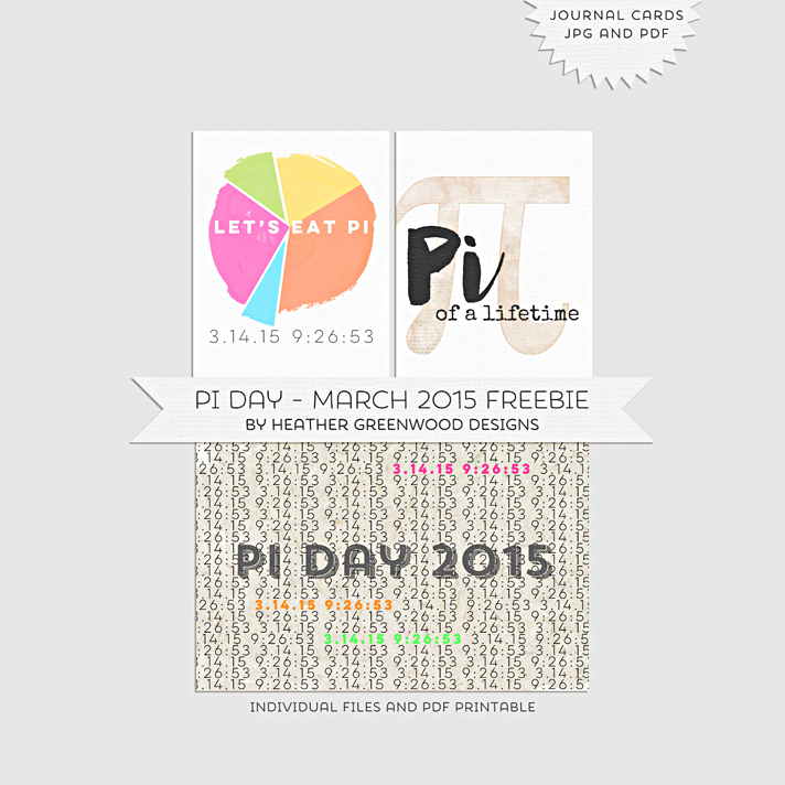 Pi Day Journaling Cards Printables Freebie One Velvet