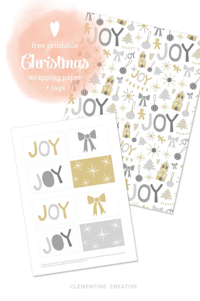 image relating to Printable Christmas Wrapping Paper named No cost Printable Xmas Wrapping Paper and Tags [ 1