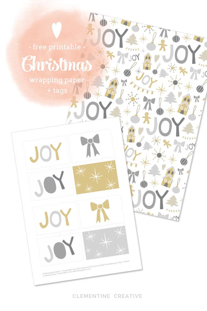 image relating to Printable Christmas Wrapping Paper named No cost Printable Xmas Wrapping Paper and Tags [ 1