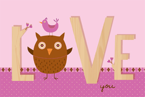 Printable Owl Valentines Day Card – Owl Valentines Day Cards