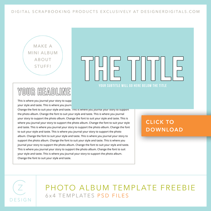 Free 6 x 4 simple album template cz design one for 6x4 postcard template
