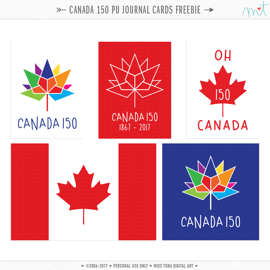 HAPPY CANADA DAY Project Life Freebie Cards