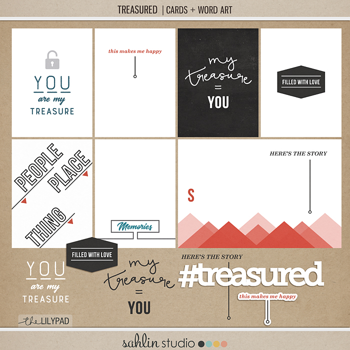 Treasured | Sahlin Studio Project Life Journaling Filler Card Freebie