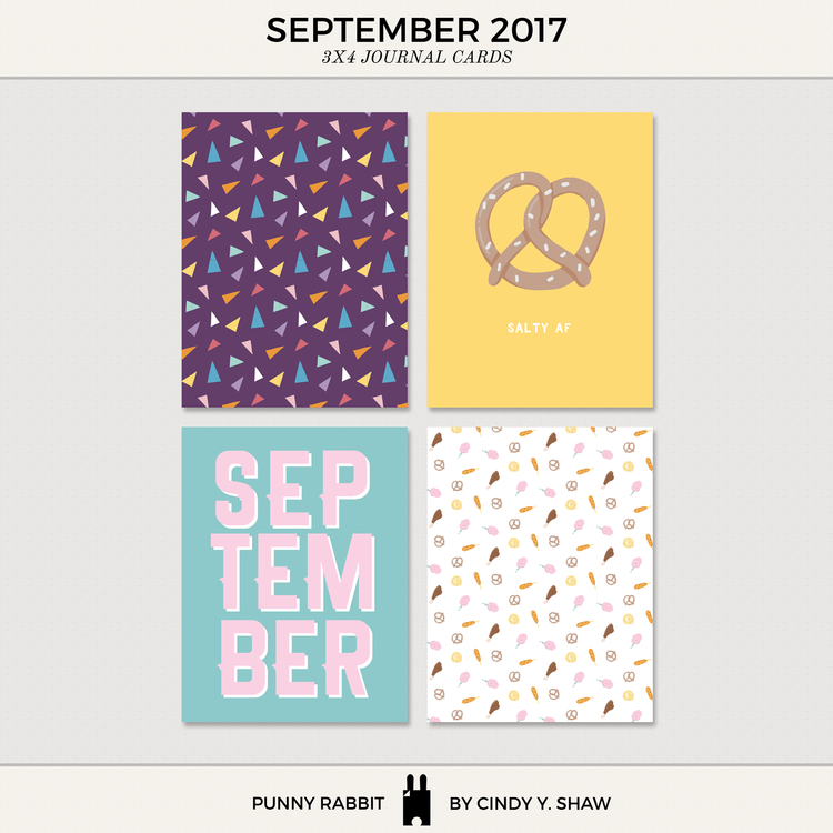 FREEBIES: 3X4 PROJECT LIFE CARDS ? September and October 2017 ? Cindy Y. Shaw