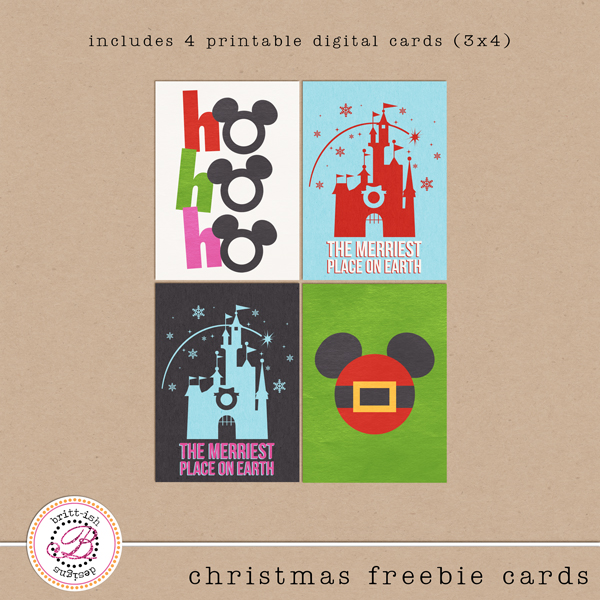 Disney Christmas Freebie Cards