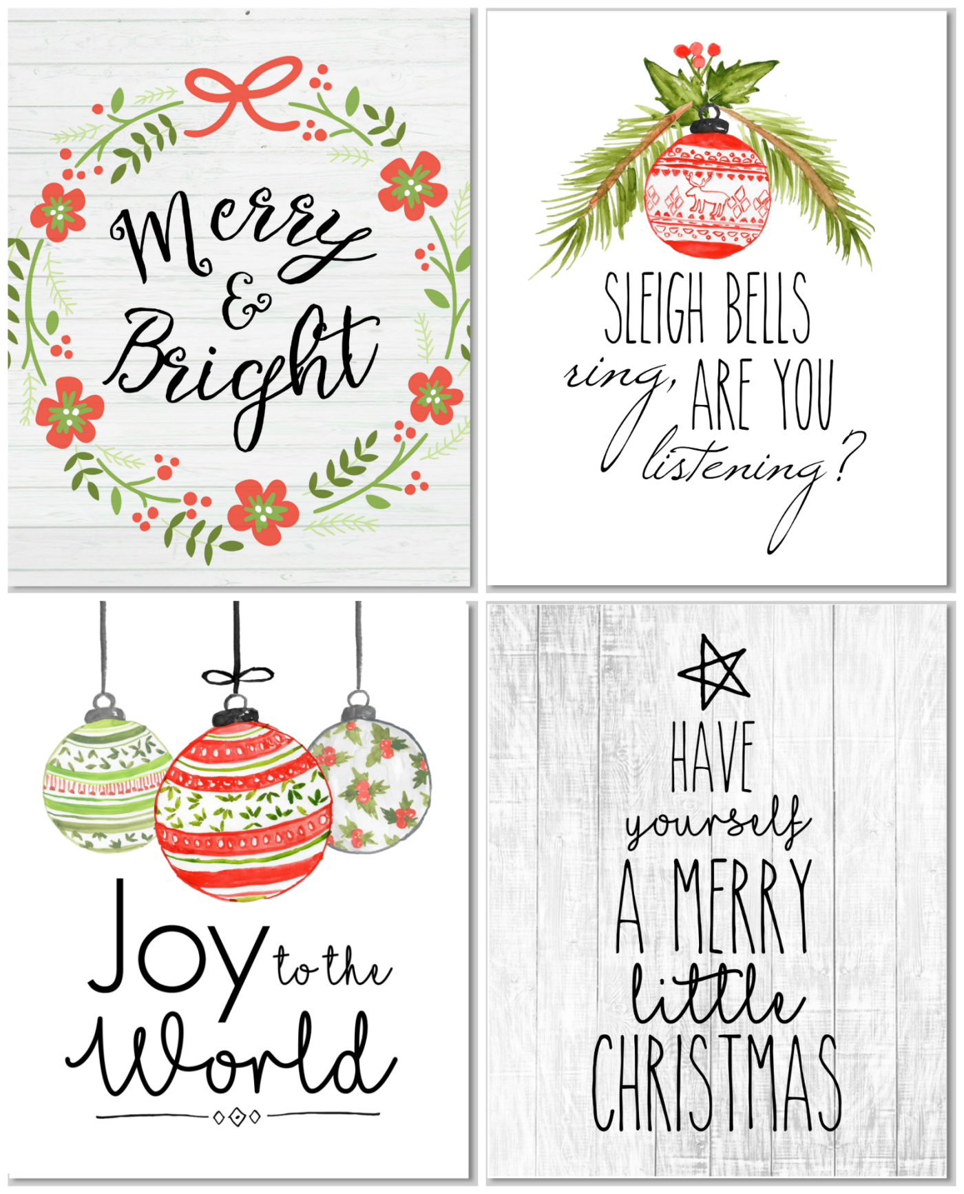 Christmas Farmhouse Decor Your Thing?! Print These for FREE for Project Life/ December Daily cards