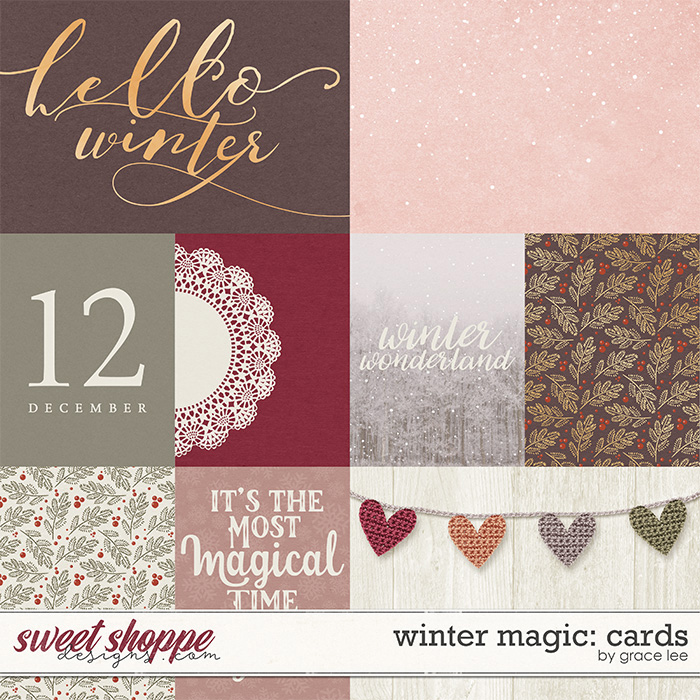 Winter Magic Project Life Filler Card Printable Freebie