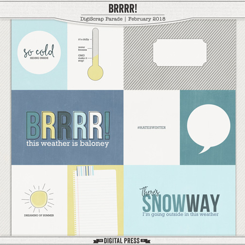 BRRR Free Project Life Journaling Card Set