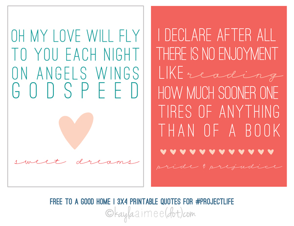 Freebie: 3×4 Printable Quote Cards