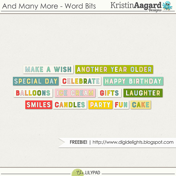 And Many More Birthday Word for digital scrapbooking freebie