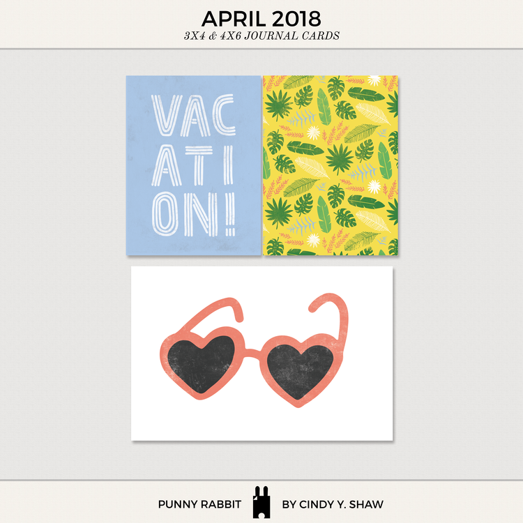 FREEBIE: 3X4 PROJECT LIFE CARDS – April 2018 — Cindy Y. Shaw