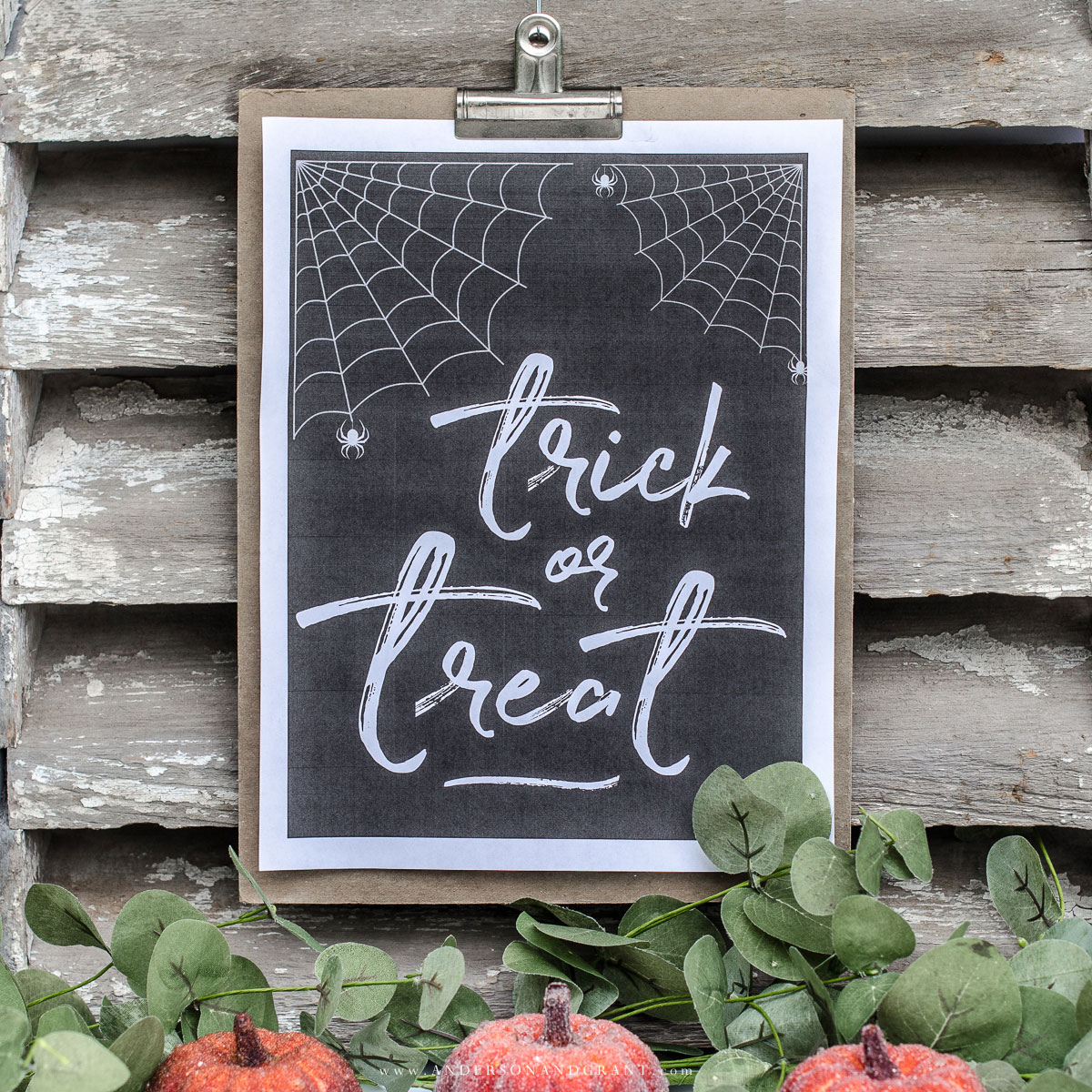 Trick or treat free printable