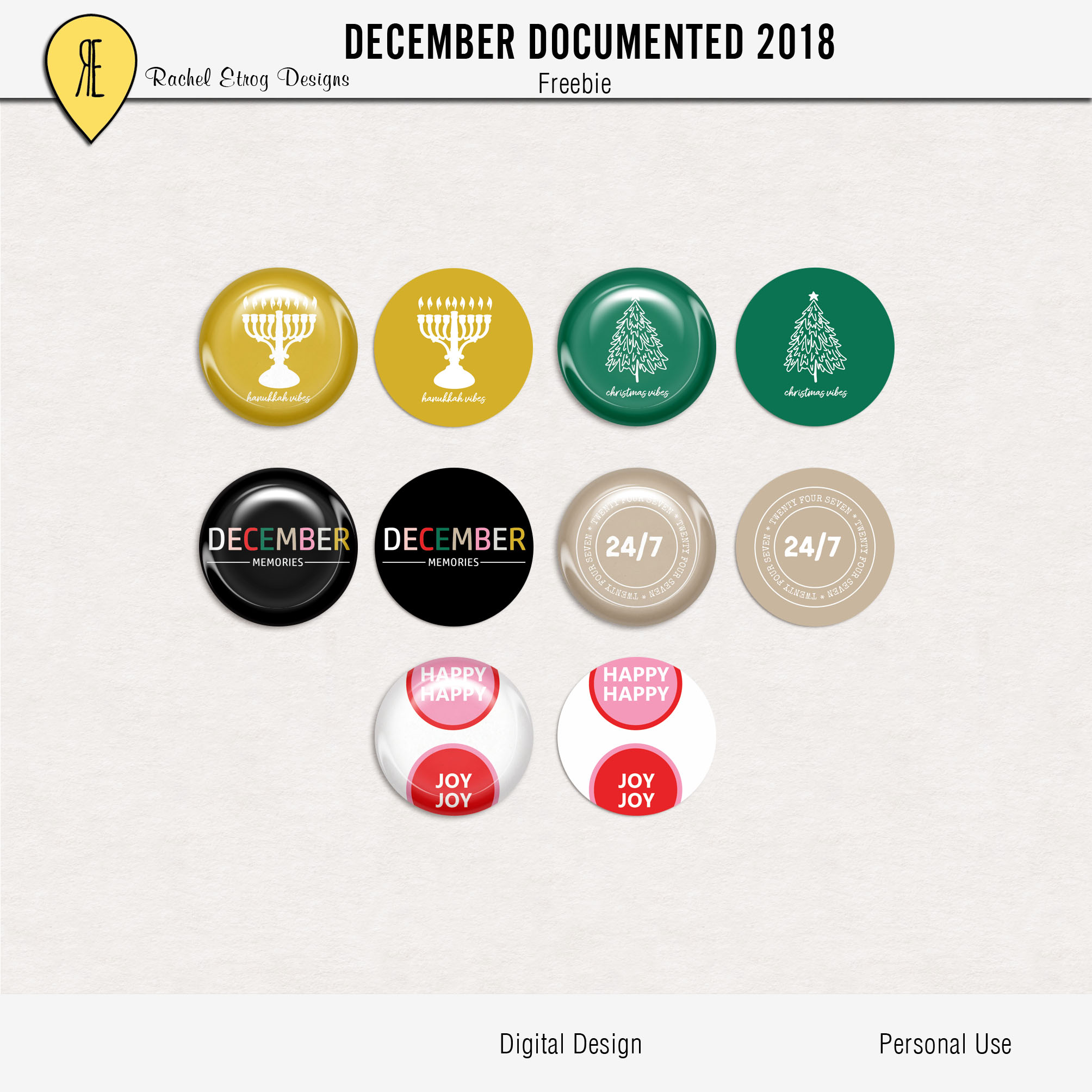 December Documented 2018 – Freebie
