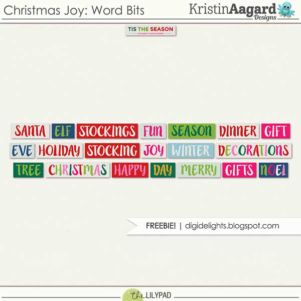 Christmas Joy Word Bits Freebie