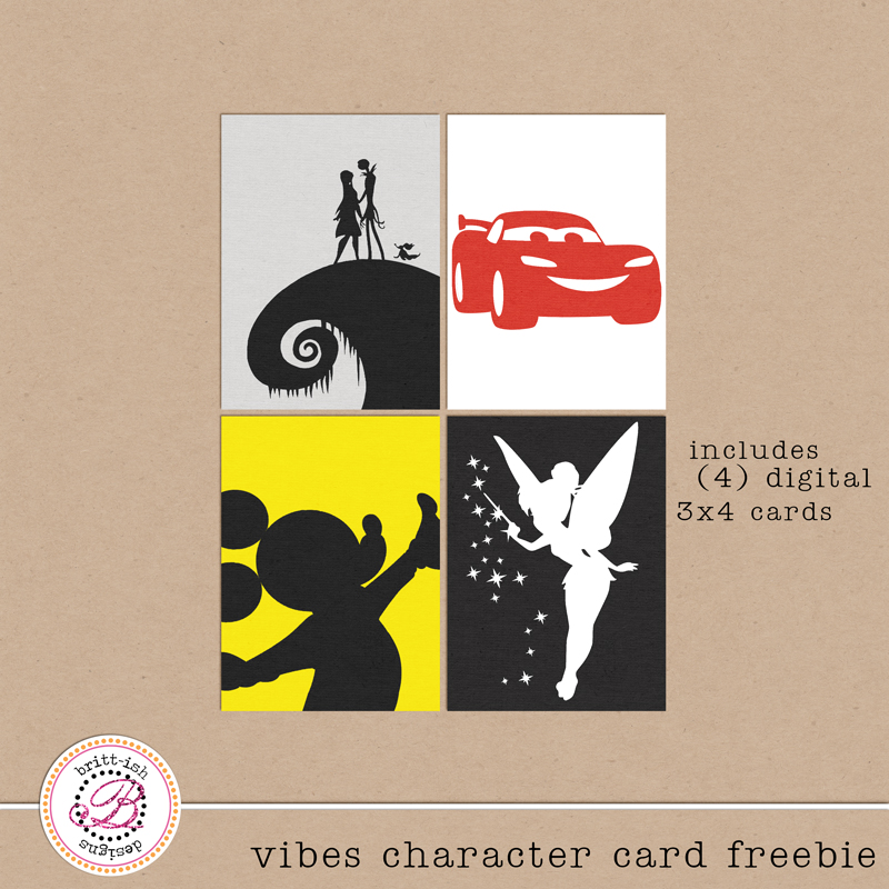 Project Mouse vibes character project life card freebies