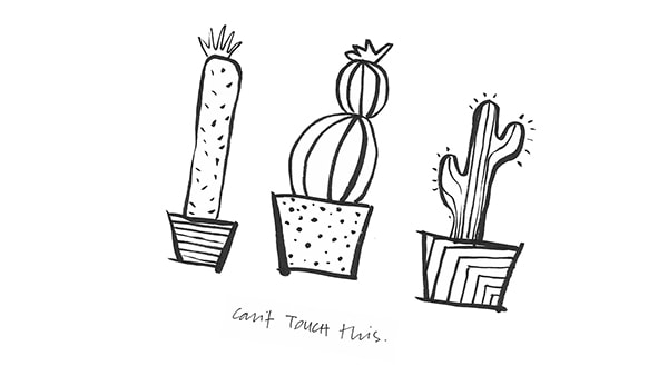 Cactus Cant Touch This Illustration art print freebie