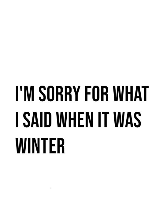 I'm Sorry for what I said when it was winter project life freebie card