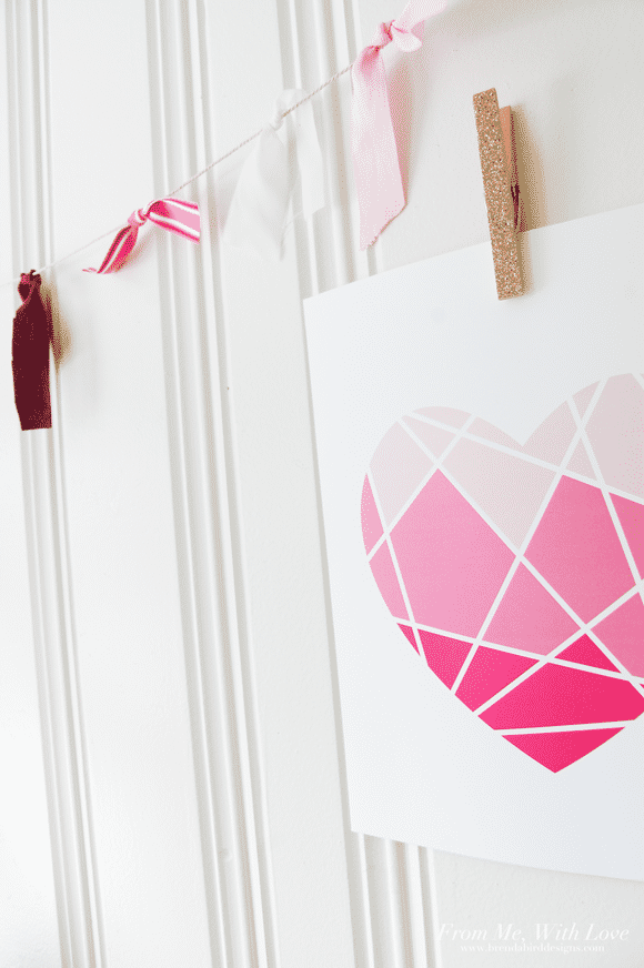 Geometric Heart Art Print Freebie