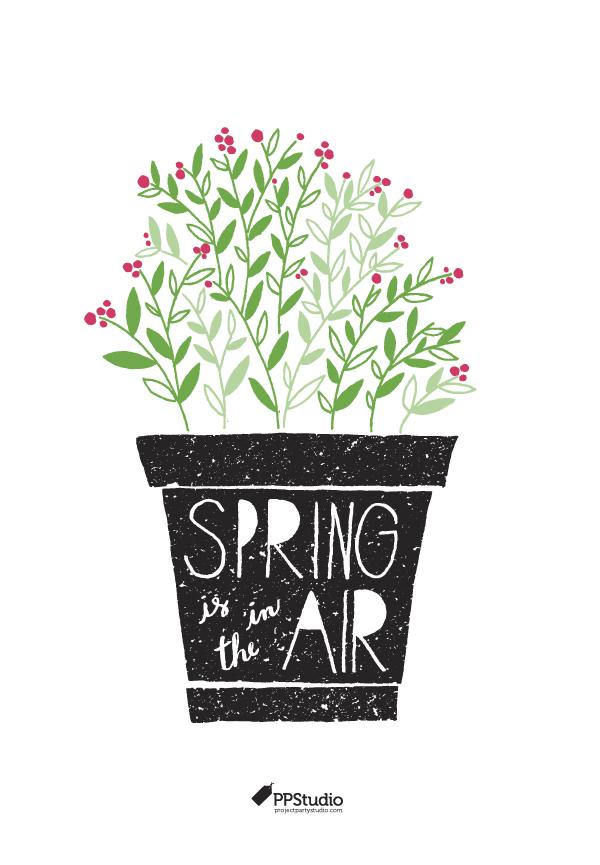 Spring is in the air art print freebie